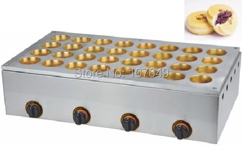 32pcs 6.8x2.3cm LPG Gas Obanyaki Red Bean Waffle Maker Machine hot sale 32pcs gas bean waffle maker