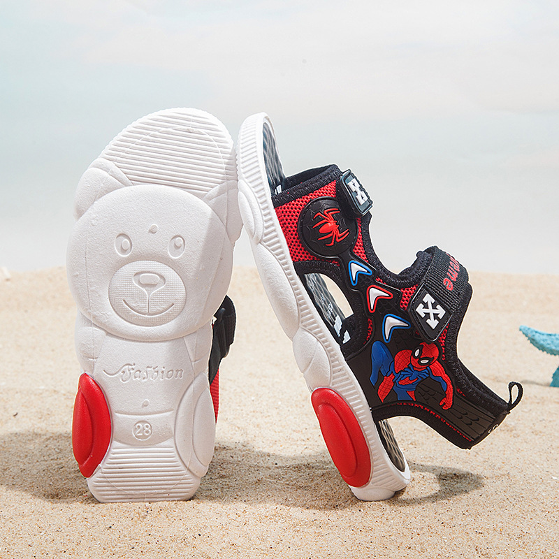 Boys Breathable Sandals 2019 Summer New Big Children Soft Bottom Children Bear Baby Beach Shoes