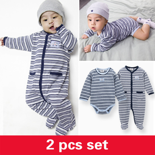 Kavkas/комплект одежды для малышей; зимние комбинезоны в полоску для мальчиков; брендовый комбинезон с длинными рукавами из хлопка; костюм для новорожденных; комбинезон для малышей - Цвет: PY1031HY2007