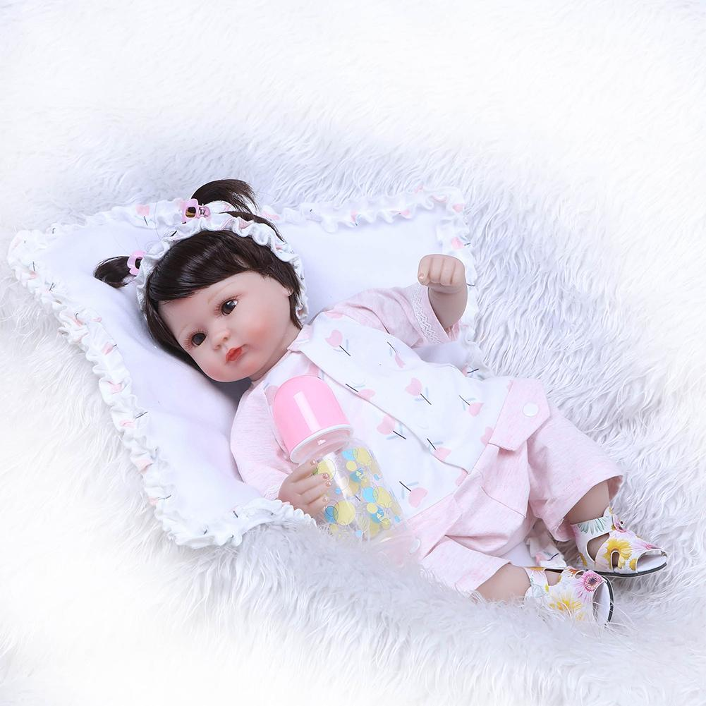 Realista Silicone Reborn Dolls Full Body Reborn Baby Girl For Princess Children Birthday Gift Bebes Reborn Dolls warkings reborn
