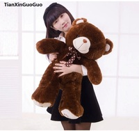 stuffed plush toy teddy bear large 60cm brown bear doll soft throw pillow,birthday gift h0649