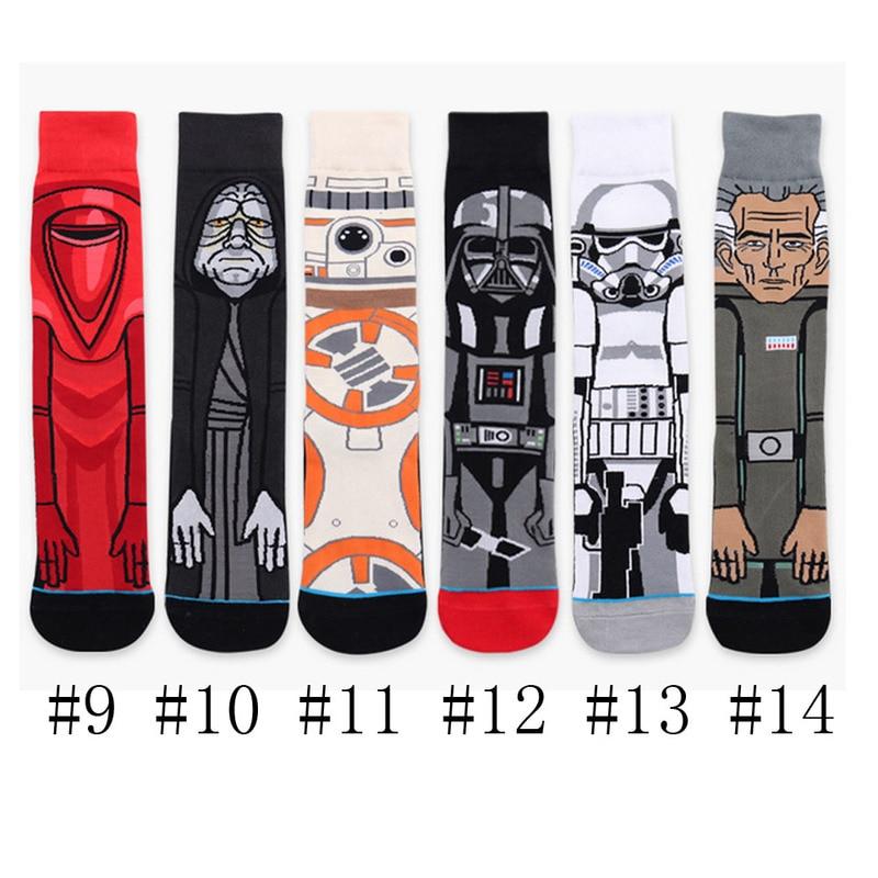 Funny Stockings Cartoon Cotton Print Socks Adult Men Women Jedi Order Master Yoda Cosplay Tide Long Star War Socks 1 Pair Winter