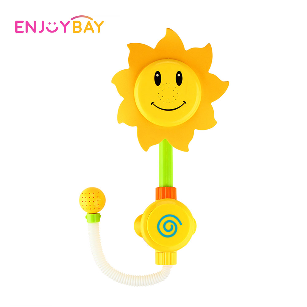 Enjoybay Baby Bath Toys Funny Water Spraying Tools Sunflower Shower Faucet Water Playing Toys for Bathtub Beach Swimming Pool
