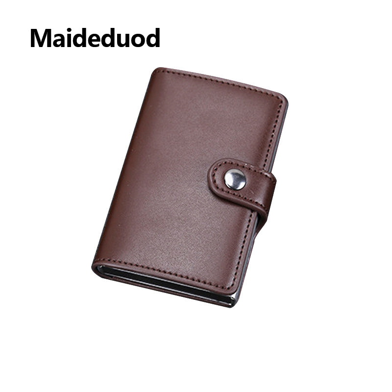 2018 New women and men Drawing type Antitheft Card Holder Rfid Aluminium Credit Card Holder With Rfid Blockinng Mini wallet