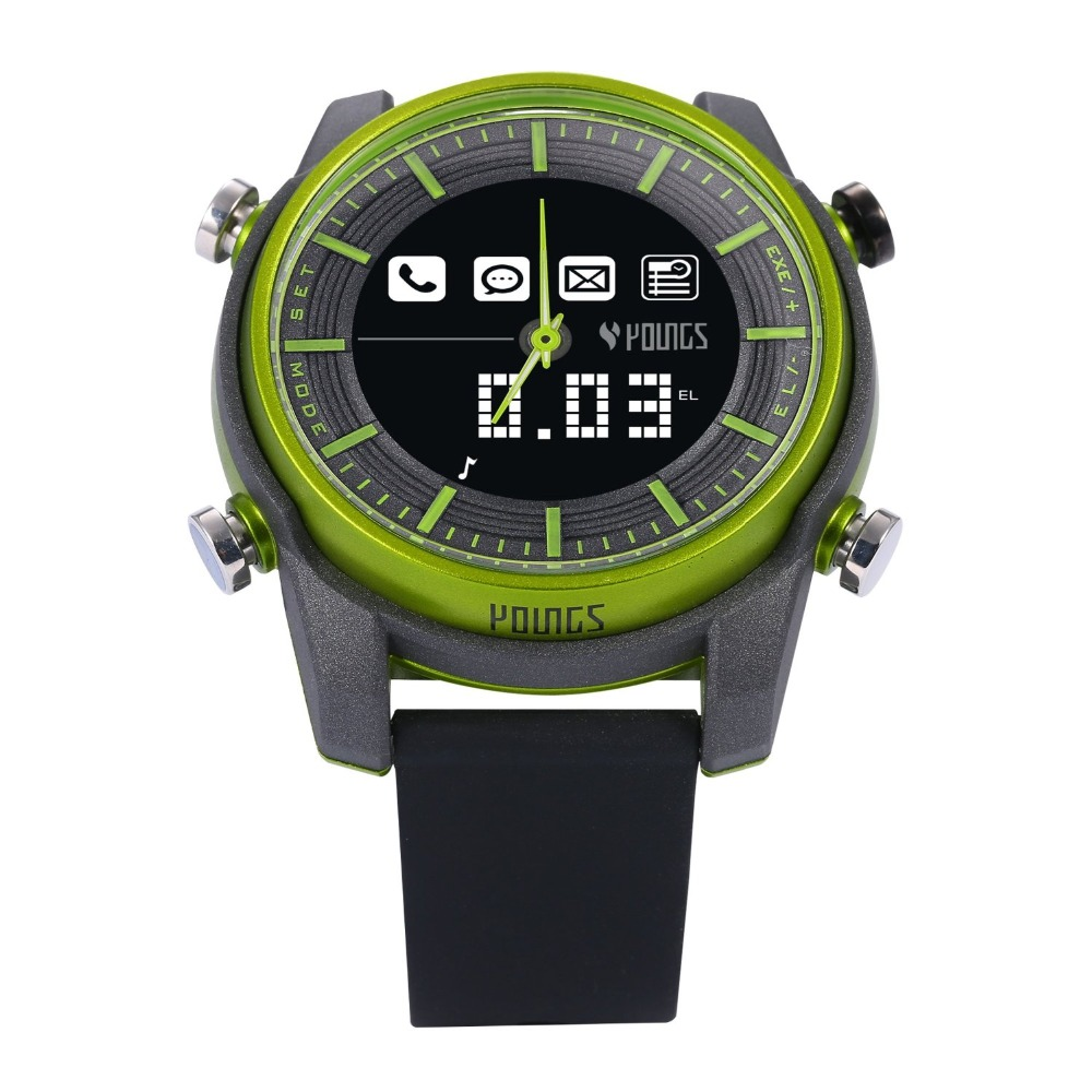 New 2016 Bluetooth Smart Watch 100M Waterproof SOS Electronic Wearable Devices Sport Watches BT 4.0 Android IOS For Smartphone new curren x4 smart phone watch heart rate step counter stopwatch ultra thin bluetooth wearable devices sport for ios android