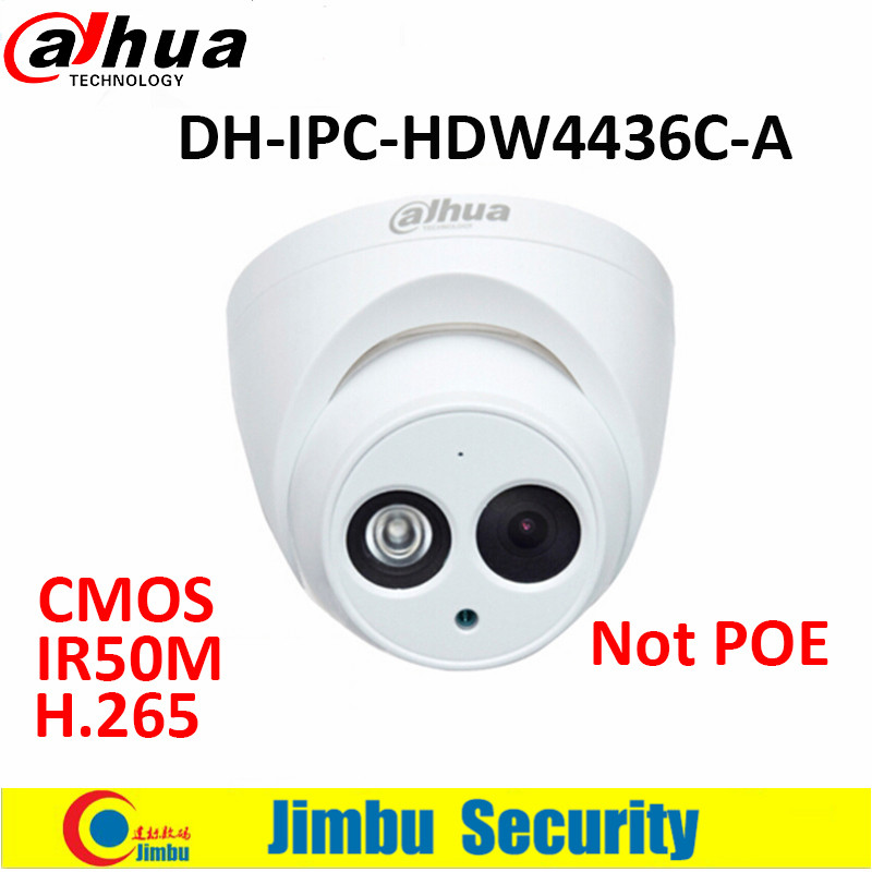 Dahua 4MP camera IR50M H.265 Full HD IP camera Built-in-MIC CCTV Network Camera DH-IPC-HDW4436C-A in stock dahua ipc k200wn 2mp ip66 hd cube network camera