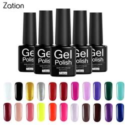 Zation Semi-permanent 29 Colors UV Gel Nail Polish Lacquer Semi Permanent Pure Color Nail Glue Soak Off Hybrid Gel Varnish