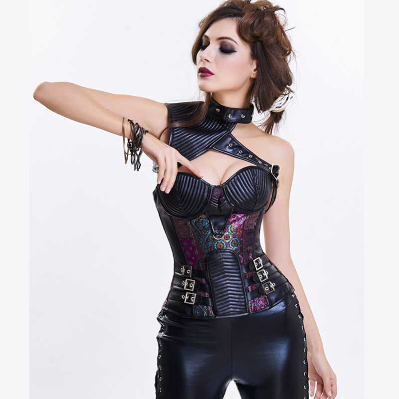 Bustier     Corset   Gothic Clothing Gothic Steampunk   Corset   Waist Shaper Body Shapers Women Shapewear Sexy   Bustier   and   Corset   Lace Up