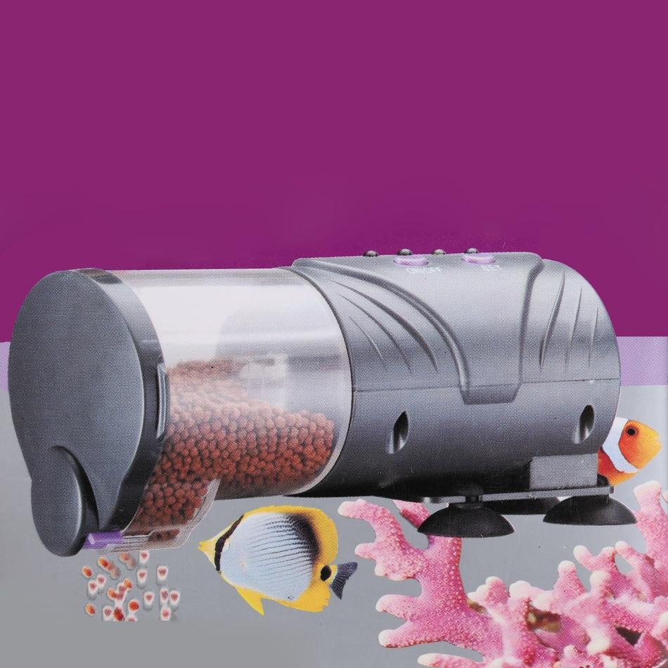 Aquarium fish tank auto food feeder lcd timer - Practical Adjustable Outlet Aquarium Tank Auto Food Timer Fish Tank Feeding Dispenser Automatic Fish Feeder