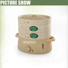 1pc high quality 6L mini green safe multilayer Bamboo products food steamer bamboo steamer electric steamer
