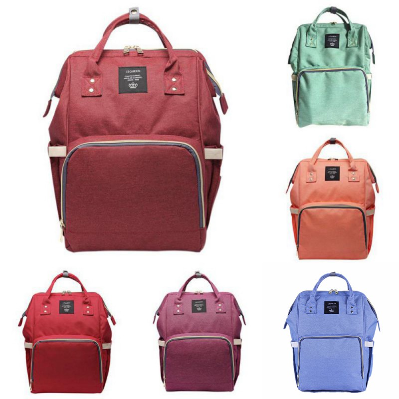 Baby Diaper Mummy Bag Multi-function Large capacity Travel Backpack Baby Care Clothes Diaper Bottle Fashion Pregnant Mommy Bag цена