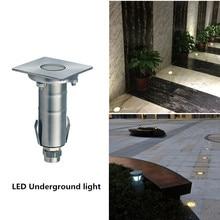 LED Underground Light Waterproof IP68 1W Ground Garden Path Floor Lamp Outdoor Buried Yard Landscape 220V
