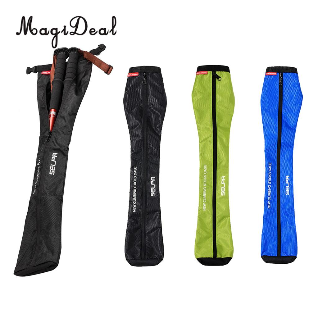 MagiDeal Oxford Hiking Stick Carry Bag Waterproof Trekking Crutch Storage Case Walking Pole Bag