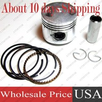 12 Sets A Lot 50mm Piston Kit With Ring For GY6 100cc 139QMB 139QMA 1P39QMB