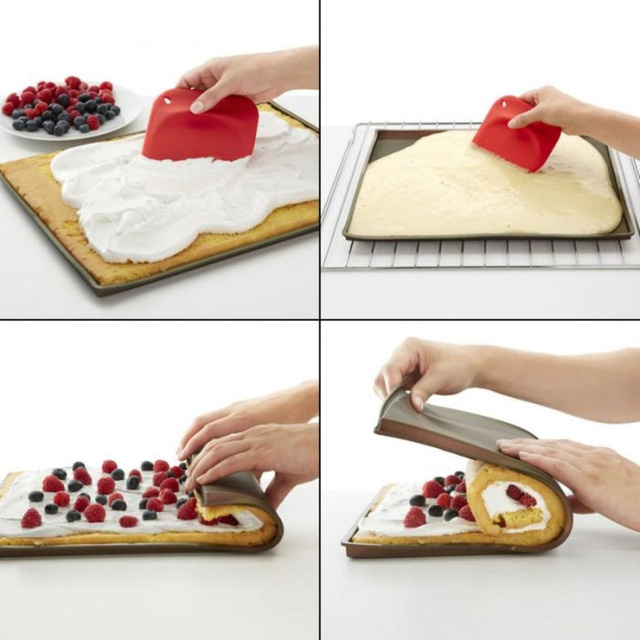 1pc Non-stick Silicone Oven Mat Rice Roll Cake Swiss Pad Bake Tool Cake Rolling Maker Baking Tray Pad Kitchen Bakeware Mat