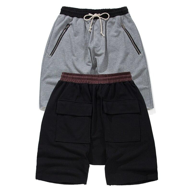 Fear Of God Shorts 2017 New Justin Biebre Streetwear Skateboard FOG Shorts Drawstring Elastic Zipper Pocket Fear Of God Shorts
