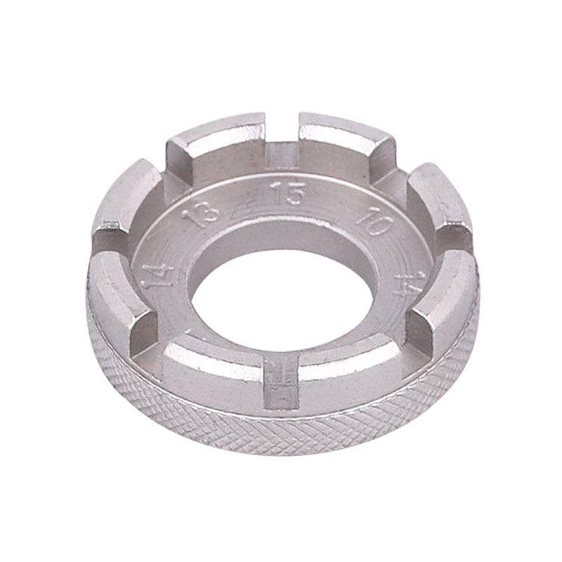 Bicycle Spoke Nipple Wrench 8 Way Groove Bike Wheel Rim Adjuster Spanner Galvanized Repair Service Tool Key TOL-108