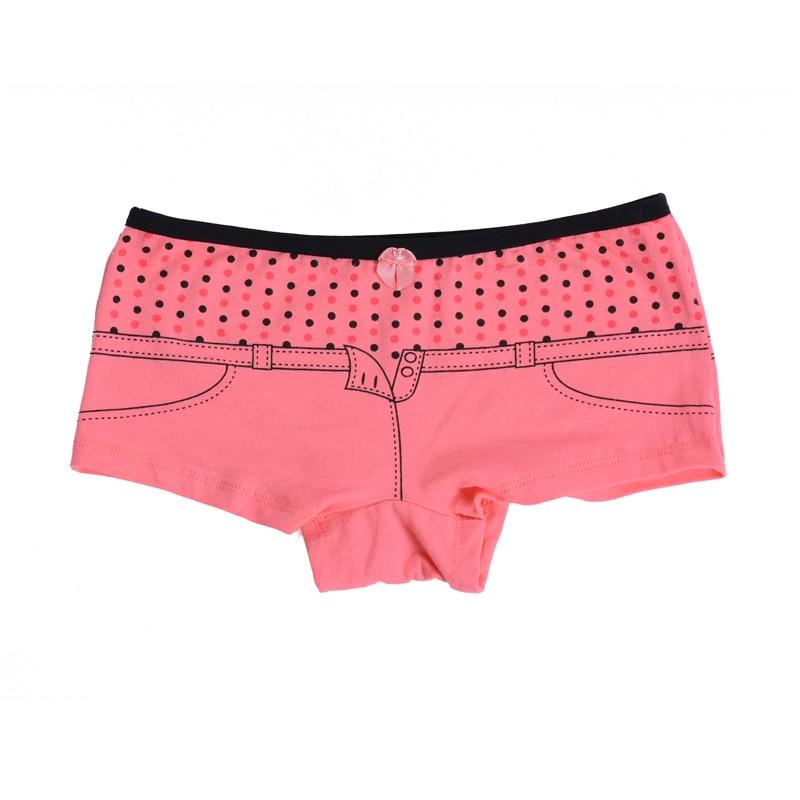 2018 New Spandex Print Cute Spodní prádlo Bavlněné prádlo Dámské kalhotky Hot Sale Tisk Dámské lukové kalhoty