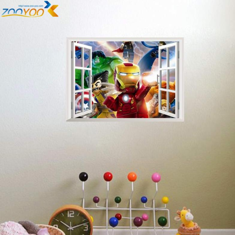 Online Shop Wall Stickers For Kids Rooms Lego Avengers D Printer - Lego wall decals vinyl