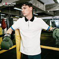 Viishow Cotton Beige Polo Men Shirt Summer Slim Fit Tee Shirt Pullover Mens Polo Brand Clothing PD65362