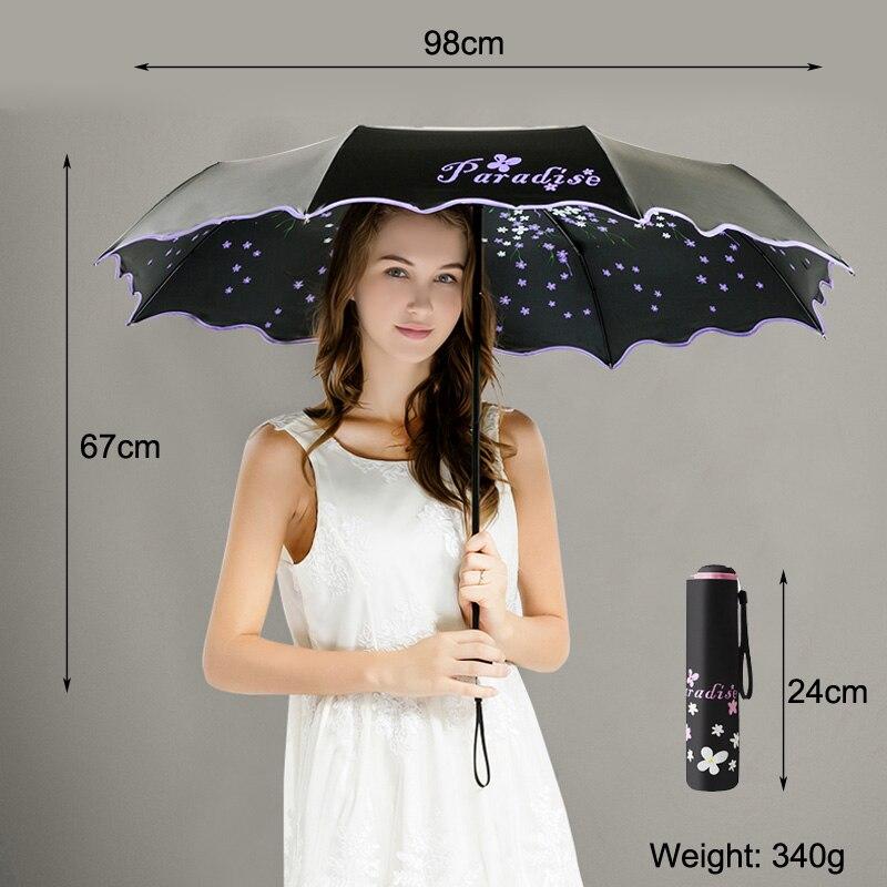 Plus size Black coating Ultraviolet proof Women Anti UV Mini pocket Sunshade Umbrella Paraguas Parasol Sombrilla birthday gift in Umbrellas from Home Garden