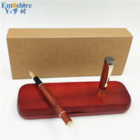 Luxury Wooden Fountain Pen Box Classic Brand Fountain Pen for Canetas Office Supplies Pencil Case Stationery for Students P103