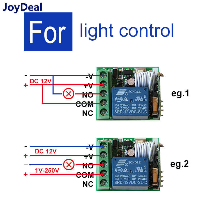 433 МГц Универсальный DC 12 V 10A 1CH Беспроводной RF пульт дистанционного управления Модуль приемника и радиочастотный передатчик электронный замок управления Diy