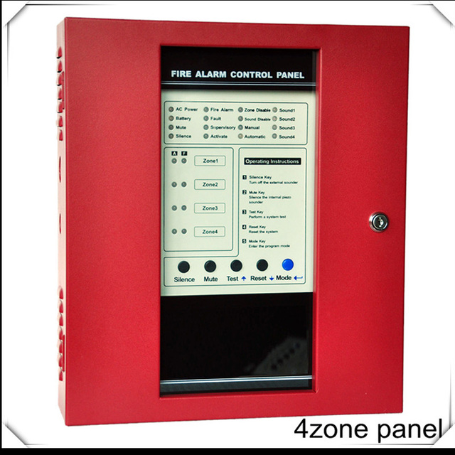 4 zones fire alarm control panel fire alarm control system for Fire sprinkler system cost calculator