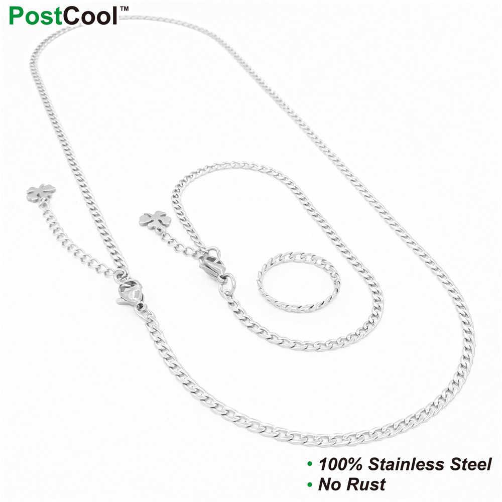 3 MM szerokość BlNK styl łańcuch ze stali nierdzewnej/Chain naszyjniki/40/45/50/55/60 /65 CM długości/na rękę łańcuchy 18/20/22 CM długości/palec łańcuchy