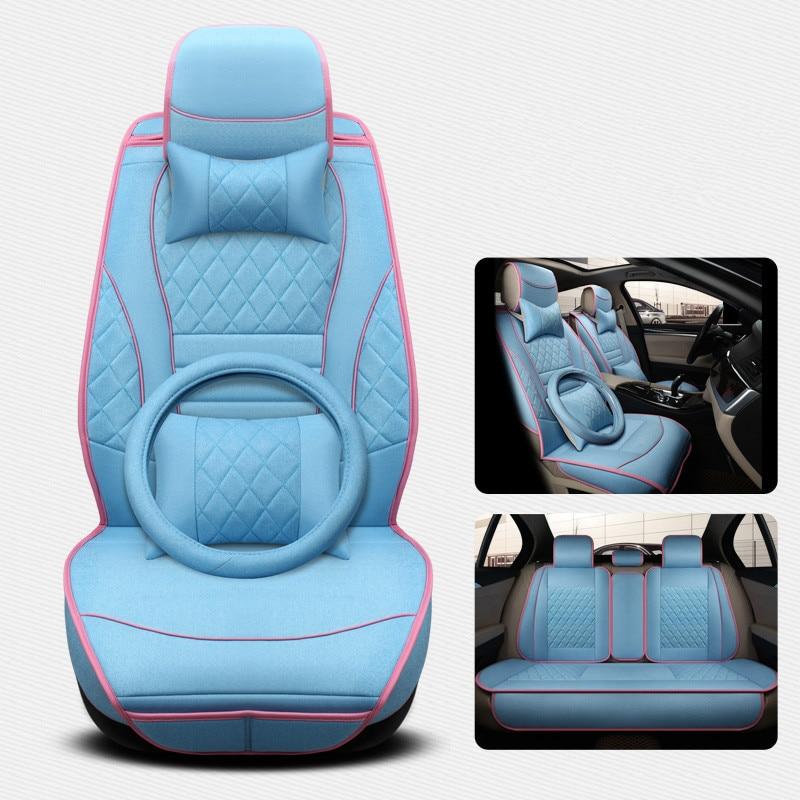 3D стерео серии Travel Подушки, хлопок/конопли смесь, четыре сиденья, автомобиль Стайлинг Для Audi BMW Cadillac внедорожник всех автомобилей ...