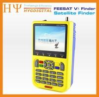 3 sztuk/partia DHL Freesat V8 DVB-S2 Digital Satellite Finder Finder 3.5 cal LCD Wysokiej Rozdzielczości MPEG-2 HD MPEG-4 Signal Finder