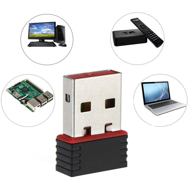Free Driver USB Wifi Adapter 100Mbps Wifi Adapter 5 ghz Antenna USB Ethernet PC Wi-Fi Adapter Lan Wifi Dongle AC Wifi Receiver image