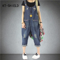 Romper Women Brand Jumpsuit Denim Harem Pants Vintage Sleeveless Backless Casual Loose Solid Overalls Strapless Paysuits