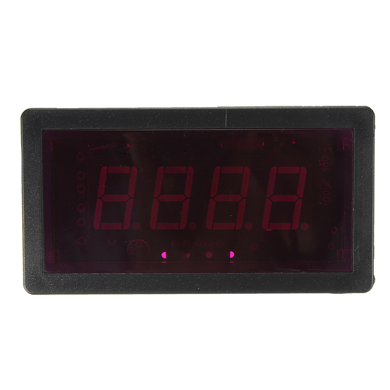NPN Hall Proximity Switch Sensor + Electronic Red LED Tachometer 4 Digital Display Tachometer RPM Speed Meter With Magnet