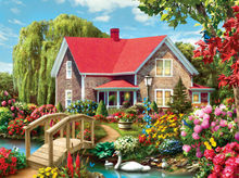 Villa Garden Art Hand-painted Creative Digital Oil Painting DIY Painting By Numbers 24 Color Pigment Brush Painting(China)