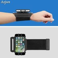 Aojun Sports Armband Case para iPhone X 8 7 Plus 8 7 além De Pulso Universal Correr Desporto Arm Band Bag para 4-6 de polegada de Telefone dispositivos