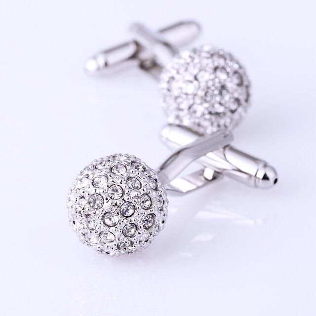 KFLK Jewelry Brand Silver Crystal Fashion Cuff link Button High Quality shirt cufflink for mens Luxury Wedding Free Shipping 5