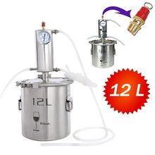 12L Home Distiller Alcohol Water Oil Distiller Home Brewing Household Stainless Distiller Kits цена