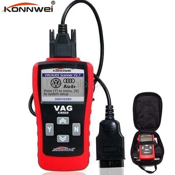 Best OBD2 Scanner KW809 OBDIIMultifunction Car Bus Auto Vechicle diagnostic Scanner tester Card Reader decoder For VW Audi Skoda u280 1 5 lcd vw audi car diagnostic code reader memo scanner