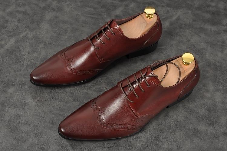 Fashionbullock Formal Bico Fino Lace Falt De Esculpido Shoes As Sapatos Up Homens Casamento Partido 1 Pic Genuíno Black Couro Brown PwCXdgYxq