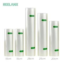 REELANX שקיות ואקום 5 לחמניות/הרבה 15 + 15 + 20 + 25 + 28*500cm ואקום אוטם תיק עבור מזון אריזת ואקום אריזה מכונה