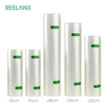 REELANX sacs sous vide 5 rouleaux/Lot 15 + 15 + 20 + 25 + 28*500cm sac de scelleur sous vide pour emballage alimentaire Machine à emballer sous vide