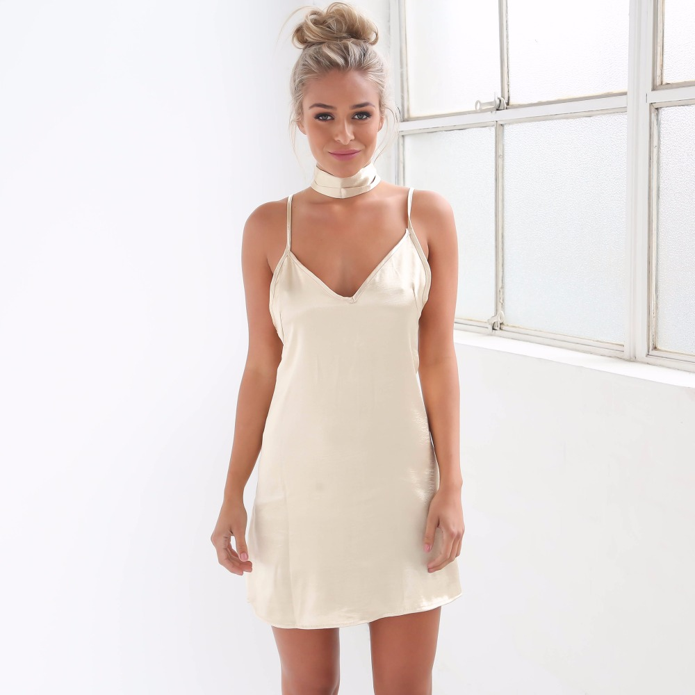 4a46a7e3caa backless slip dress - Women s Dresses