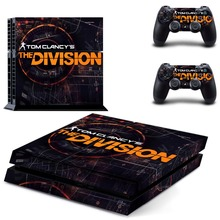 Tom Clancy's The Division decal PS4 Skin Sticker For Sony Playstation 4 Console +2Pcs Controllers 4 patterns