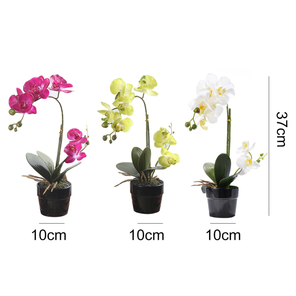 Artificial Orchid Flowers Real Touch Artificial Butterfly Orchid For Wedding Decoration Home Festival Decorative Flowers