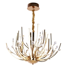 Creative personality Led luster postmodern living room chandeliers simple art Crystal chandelier light fixtures