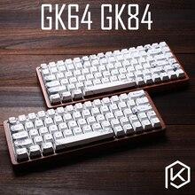 Gk64 gk84 teclado mecânico 64 teclas, sub teclado de tintura de madeira personalizado, rgb, perfil de cereja, keycap, noite estrelada navio livre, frete grátis
