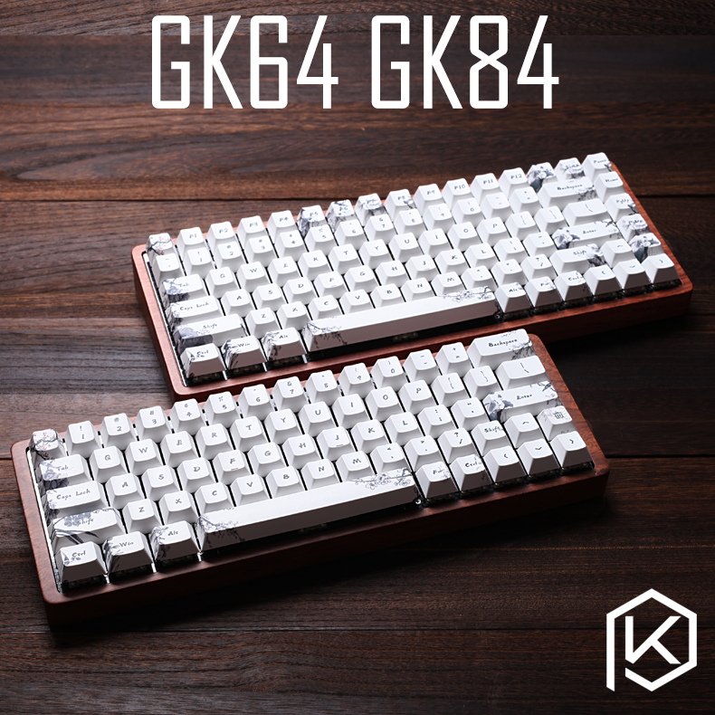 Gk64 Gk84 Mechanical Keyboard 64 Key 84 Key Dye Sub Keycaps Wooden Custom Light Rgb Cherry Profile Keycap Starry Night Free Ship