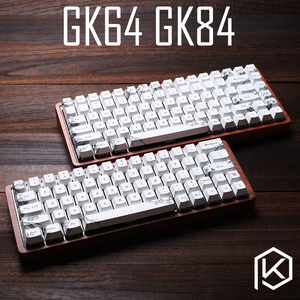 Image 1 - gk64 gk84 Mechanical keyboard 64 key 84 key dye sub keycaps wooden custom light rgb cherry profile keycap starry night free ship