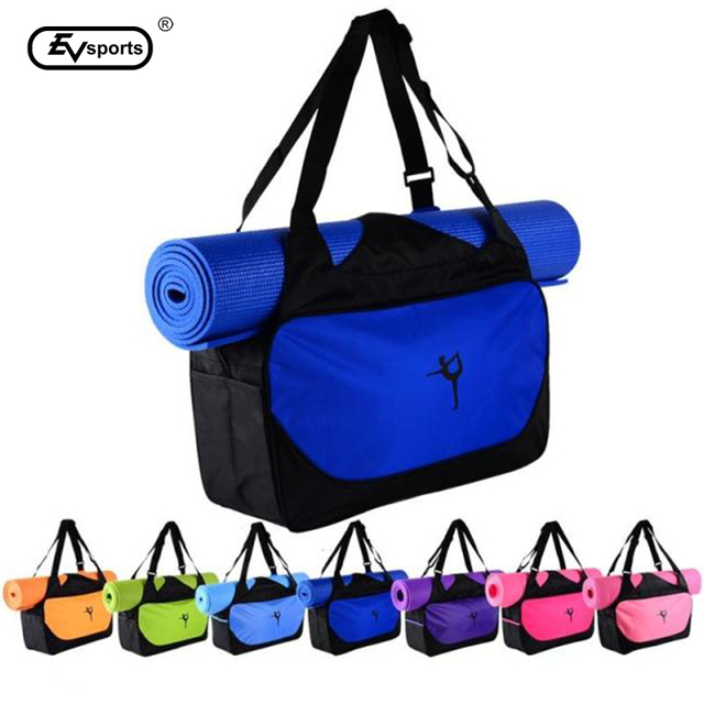 Multifunctional Clothes Yoga Bag Gym Mat Sport Bag Yoga Backpack Shoulder Waterproof Yoga Pilates Mat Case Bag Carriers(no mat)